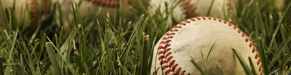 baseballs lying in grass