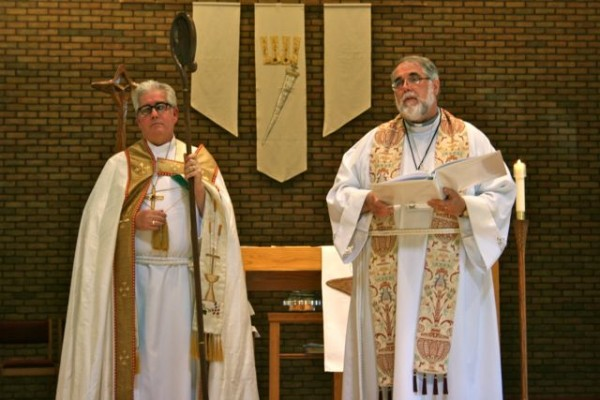 Image of Bishop Saterlee and Pastor Blank