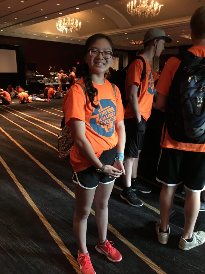 Jessica at the National Gathering in Houston