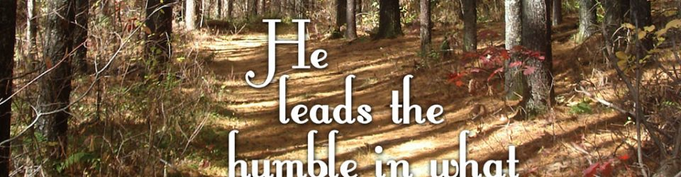 he leads the humble in what is right and teaches the humble his way - bible passage